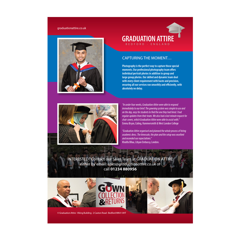 Graduation Attire Colleges Leaflet