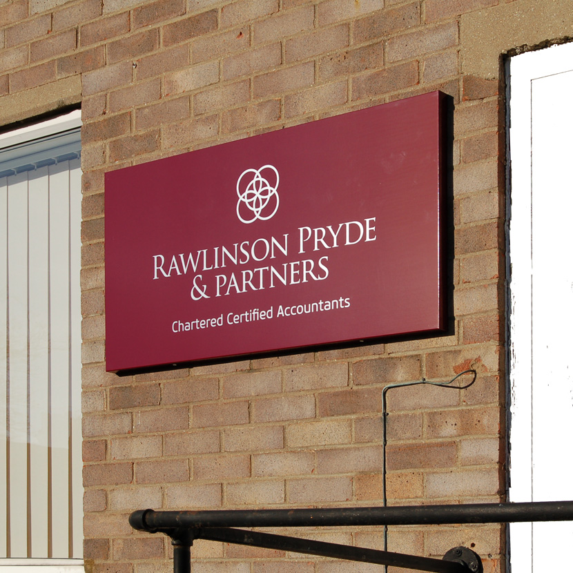 Rawlinson Pryde & Partners Tray Sign