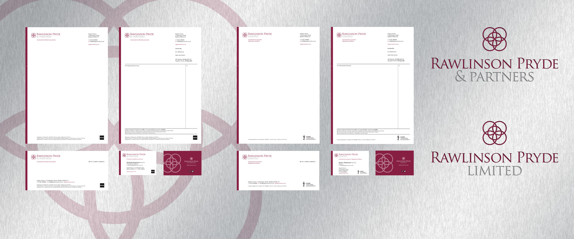 Rawlinson Pryde Corporate Stationery
