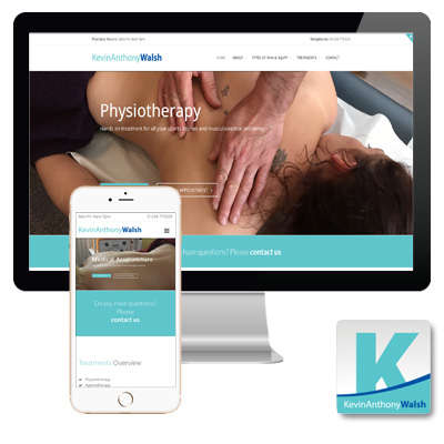 Kevin Anthony Walsh Physiotherapy and Complementary Clinic responsive website
