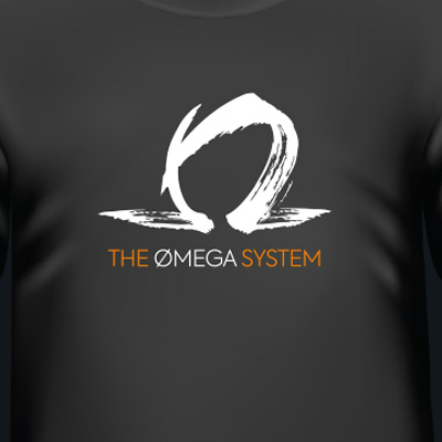 Logo on tee-shirt for The Omega System